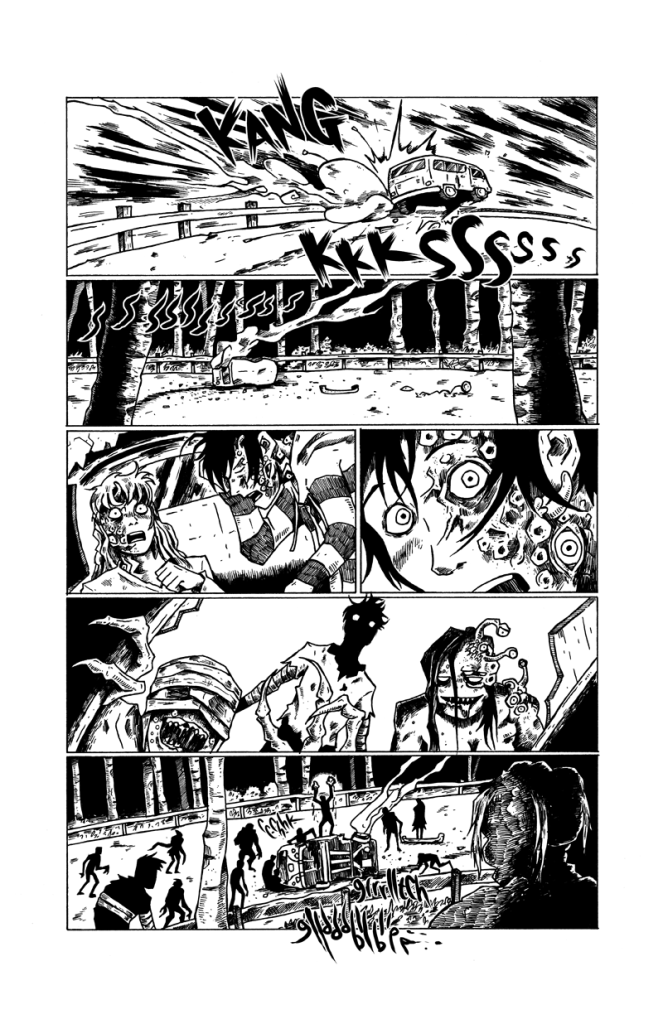 A page from The Secret Flesh.