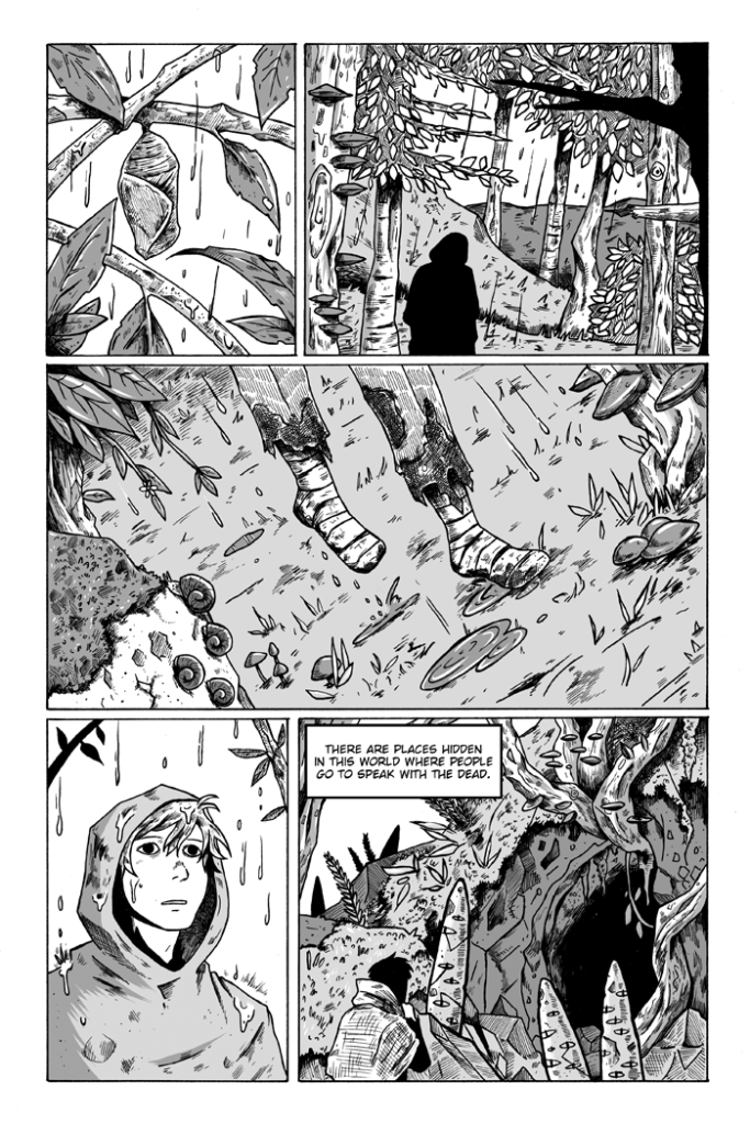 """A page from Ramiro's comic """"What We Do."""""""