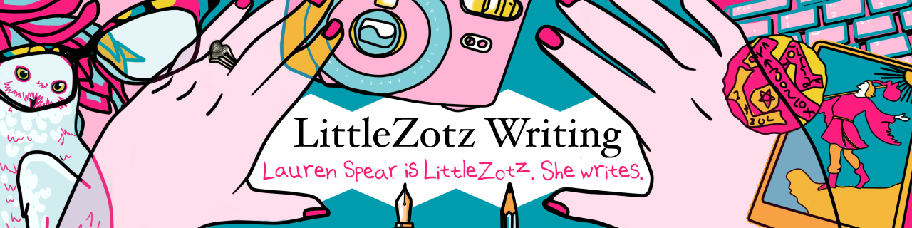 LittleZotz Writing header image takes visitors back to the home page when clicked